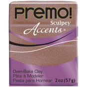 Rose Gold Glitter - Premo Accents Sculpey Polymer Clay 2oz