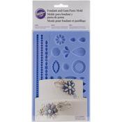 "Jewelry - Fondant & Gum Paste Silicone Mold 5.7""X10.6"""