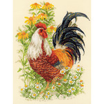 "Rooster Counted Cross Stitch Kit-11.75""X15.75"" 14 Count"