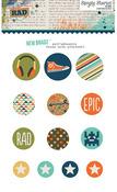 So Rad Self-Adhesive Brads - Simple Stories