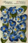 Royal Blue Velvet Pansies - Petaloo