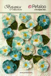 Teal Velvet Pansies - Petaloo