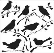 "Birds - Crafter's Workshop Template 12""X12"""