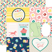 Journaling Cards Paper - My Little Girl - Echo Park