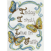 "5""X7"" 14 Count - Live In Faith Mini Counted Cross Stitch Kit"
