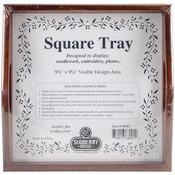 "Design Area 9.5""X9.5"" - Mahogany Small Square Tray 10""X10"""