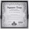"""Design Area 9.5""""X9.5"""" - Black Small Square Tray 10""""X10"""""""