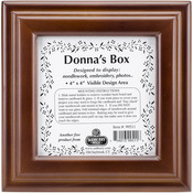 "Design Area 4""X4"" - Mahogany Donna's Square Box 6""X6""X2.75"""