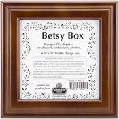 """Design Area 5""""X5"""" - Mahogany Betsy Square Box 8""""X8""""X2.75"""""""