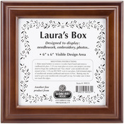 """Design Area 6""""X6"""" - Mahogany Laura's Square Box 8""""X8""""X2.75"""""""