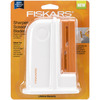 Desktop Universal Scissors Sharpener- Fiskars-Desktop Universal Scissors Sharpener. Restores blades to the perfect cutting edge! Compact design is comfortable to use and easy to store. Sharpener is adaptable for use with left-handed or right-handed scissors. Two slots ensure proper positioning for optimal blade sharpening. This package contains one 5-1/4x4x1-1/2 inch desktop universal scissors sharpener. Imported.
