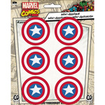 "Captain America 1.625"" Round 6/Pkg - Marvel Comics Patch"