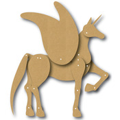"""EyeConnect Chipboard Totem Poppet - Horse, 6""""X6"""""""