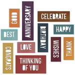 Celebration Block Words Thinlits Dies - Sizzix - Tim Holtz