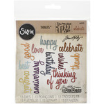 Celebration Script Words Thinlits Dies - Sizzix - Tim Holtz