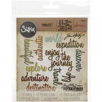 Adventure Words Script - Sizzix Thinlits Dies - Tim Holtz