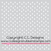 "C.C. Designs Stencils 6""X6""-Raindrops"