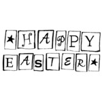 "Happy Easter Blocks - Gourmet Rubber Stamps Cling Stamps 2.75""X4.75"""