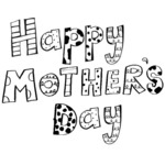 "Happy Mother's Day Ornamental - Gourmet Rubber Stamps Cling Stamps 2.75""X4.75"""