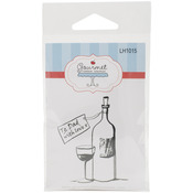 "Dad's Wine - Gourmet Rubber Stamps Cling Stamps 2.75""X4.75"""
