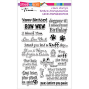 """Stampendous Perfectly Clear Stamps 4""""X6"""" Pkg - Dog Sayings"""