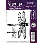 Flying Dragonflies - Sheena Douglass Cling Stamp