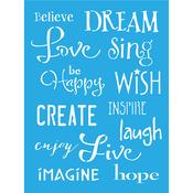 """Inspiration - Americana Decor Stencil 6""""X8"""""""