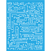 "Americana Decor Stencil 6""X8""-Short Circuit"