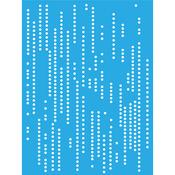 """Pixelated - Americana Decor Stencil 6""""X8"""""""
