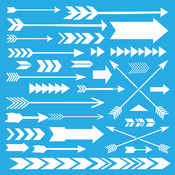 "Array Of Arrows - Americana Decor Stencil 12""X12"""