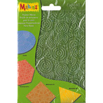 "Makin's Clay Texture Sheets 7""X5.5"" 4/Pkg - Set H (Coils, Connectors, Abstract A"