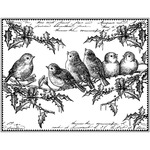 Holly Jolly Robins - Crafty Individuals Unmounted Rubber Stamp