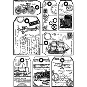 It's A Man's World - Crafty Individuals Unmounted Rubber Stamp