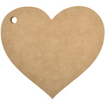 "Beyond The Page MDF Heart Album 5""X4.75""-"