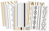 Body Art Metallic Flash Tattoo Bundle 3, 6 Sheets