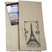 "Natural Medium - French Market Tea Towel 40 Count 15""X25"""