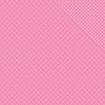 """Bubble Gum Two Quatrefoil/Dot - Spectrum Double-Sided Cardstock 12""""X12"""""""