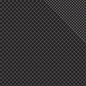 "Black Jack Two Quatrefoil/Dot - Spectrum Double-Sided Cardstock 12""X12"""