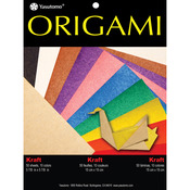 "Kraft W/Assorted Colors - Fold 'Ems Origami Paper 5.875"" 50/Pkg"