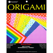 "Assorted Colors - Fold 'ems Origami Paper 5.875"" 8/Pkg"