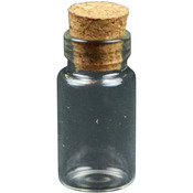 "Mini Glass 1"" Vials With Corks - Midwest Design"
