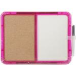 """Memo Board W/Marker 8.25""""x11.25""""-Half Cork And Half Dry Erase"""