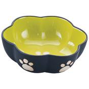 """Two Tone Color Design 7"""" Stoneware Dish - Green"""