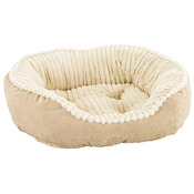 "Tan - Carved Plush Cuddler Step-In Bed 32""X25""X9"""