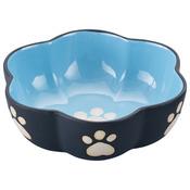 """Two Tone Color Design 7"""" Stoneware Dish - Blue"""
