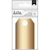 "American Crafts Cardstock Tags 1.85""X3"" 10/Pkg - Gold Foil"