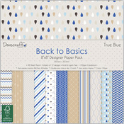 "Back To Basics True Blue - Trimcraft Paper Pad 8""X8"" 48/Pkg"