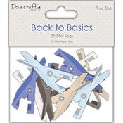 Back To Basics True Blue Mini Pegs Clothespins-