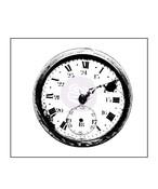 Vintage Clock Wood Mounted Stamp - Prima