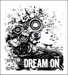 Dream On Wood Mounted Stamp - Prima